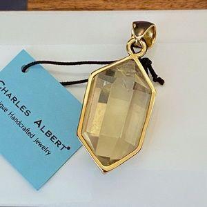 Charles Albert Citrine Point Alchemia Gold Pendant